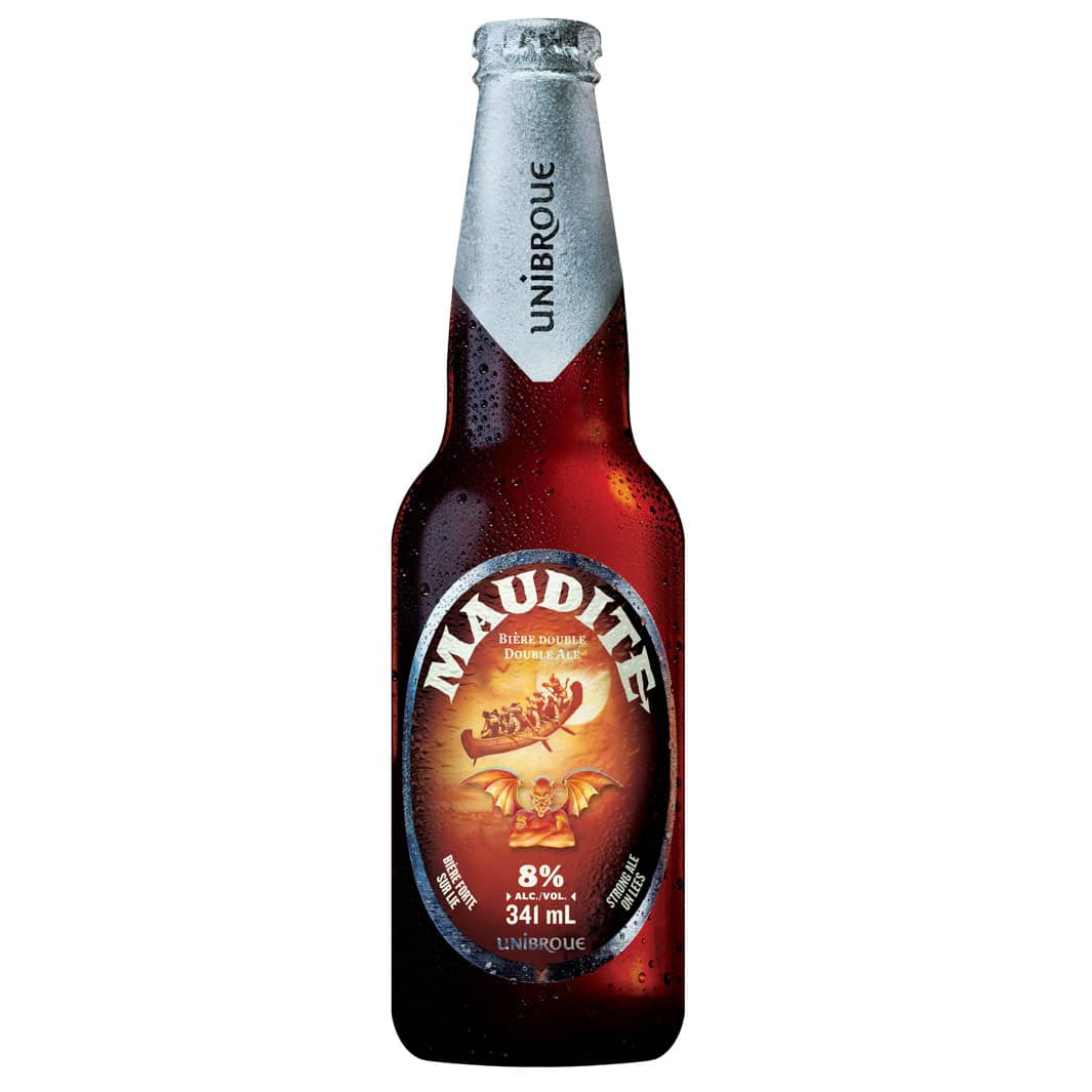 Beer Maudite Unibroue in Europe